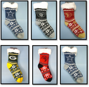 Women's Fair Aisle Tall Footy Slippers Sherpa Lined House Socks Fits Sizes 6-10