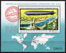 HUNGARY MAGYAR 1977 History of Airships Souvenir Sheet MNH - FREE SHIPPING