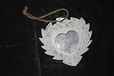 SHABBY CHIC , HEART SHAPED HANGING PHOTO FRAME ,