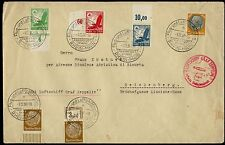 GERMANY Si 456 SUDETENLAND FLIGHT 1/12/38 B/S REICHENBERG 2/12/38 COVER BQ486