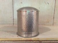 MALAYAN PLANISHED PEWTER Lidded Box - 1930/40s Believed To Be A Cigarette Holder