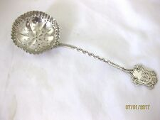 Antique Solid Silver SHELL BOWLED SIFTER SPOON  Hallmarked BIRMINGHAM 1903