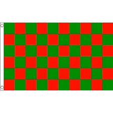 Mayo Red & Green checkered Flag 5 x 3 FT - All Ireland Football Final County