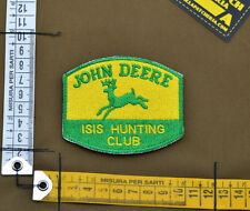 "Ricamata / Embroidered Patch ""John Deere I**S Hunting"" with VELCRO® brand hook"