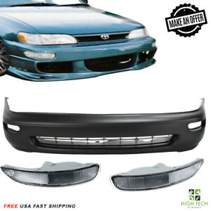 Front Bumper Cover For 1993-1997 Toyota Corolla Free Fog Lamps Clear 5211902902