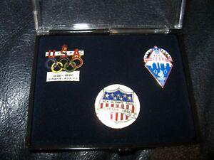 Set of Three 1996 Atlanta Olympic Pins in box