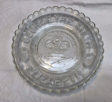 King George The Sixth 1937 Coronation Elizabeth Glass Commemorative Plate