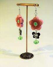 CG5276...POLYMER CLAY & CRYSTAL EARRINGS - FREE UK P&P