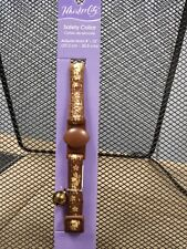 """New listing New Cat Collar, Brown with Bell, 8 - 12"""""""