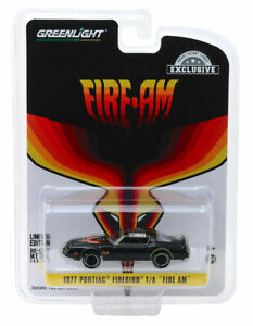 "1977 PONTIAC FIREBIRD T/A ""FIRE AM"" BLACK 1/64 DIECAST CAR BY GREENLIGHT 30059"