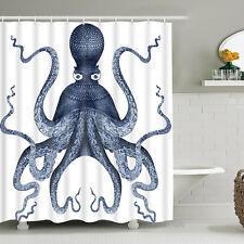 Octopus Shower Curtain Waterproof Bathroom Print With Hooks Curtain Home Decor