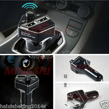 Bluetooth Car Kit MP3 Player Transmitter Wireless Radio USB Charger Voice Tone