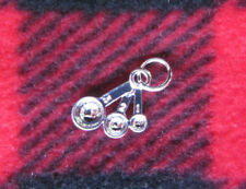 RARE silver measuring spoons pin charm metal Pampered Chef recognition