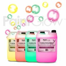 PaintGlow Neon UV Paint Bubble fluid 20L (4 Pack) UK Free UPS Next Day Delivery