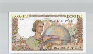 France 10 000 Francs Génie Français 5.1.1956 X.10136 n° 253396656 Pick 132d