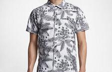 Hurley Long Waves Woven Shirt (Wolf Grey) M