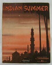 British Sheet Music: Indian Summer by Al Durbin & Victor Herbert 1939