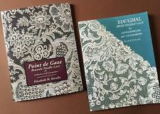 SPECIAL PRICE pair of Point de Gaze and Youghal NEEDLE LACE BOOKS by E. Kurella