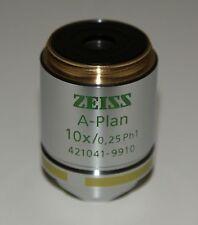 ZEISS A-Plan Objective 10x/0,25 Ph1 M27 421041-9910-000 (Ex Sales Demonstrator)