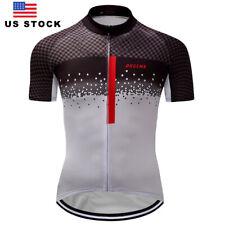 New Gray Men's Cycling Short Sleeve Jersey Man Jerseys Bike Riding Shirt Jerseys