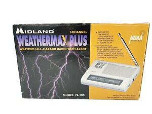 Midland Weather Max Plus 7 Channel Weather All Hazard Radio Alert # 74-109 (NEW)