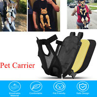 Pet Carrier Backpack Adjustable Travel Bag Legs Out Front Pet Dog For Hiking US