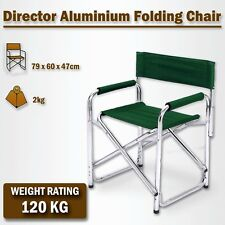 Directors Aluminium Folding Chair Camping Picnic Director Fishing Foldable Green