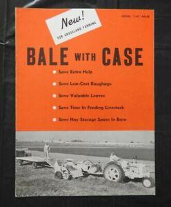 "1954 J I CASE ""MODEL 400 GRASSLAND FARMING BALE BALER"" BROCHURE VERY NICE SHAPE"
