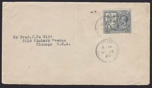 BR HONDURAS 1923 4c on cover Belize to USA..................................H322