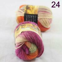 Sale Lot of 2 Skeins New Knitting Yarn Chunky Colorful Hand Wool Wrap Scarves 24
