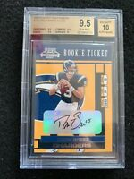 2001 PLAYOFF CONTENDERS #124 DREW BREES ROOKIE RC /500 AUTO AUTOGRAPH BGS 9.5 10