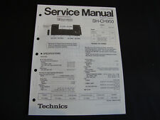 Original SERVICE MANUAL Technics sh-ch950