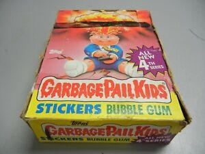 1986 Garbage Pail Kids USA GPK  Series 4 partial box, 23 Wax Packs