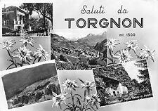 531) SALUTI DA TORGNON (AOSTA) 4 VEDUTINE. VIAGGIATA IL 24/8/60.