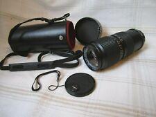 Mamiya –Sekor Zoom E f=80-200mm Lens 1:38, Lens Cover, Hard Case, Neck Strap