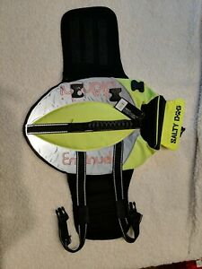NEW Petego Salty Dog Pet Life Vest neon yellow. Girth 20-23 Inches NWT SMALL