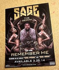 Sage the Gemini - Remember Me Promo Static Cling Sticker / Decal