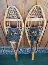 """Snowshoes 33"""" Long 10"""" Wide with Bindings Ready To Hang for Decoration"""