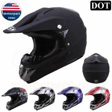 DOT Adult Motocross ATV Dirt Bike MX Off Road Helmet Motorcycle BMX Men S M L XL