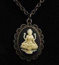 """24"""" Vintage Style Lakshmi Cameo Pendant Necklace"""