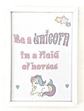 A4 Print Poster Picture Gift Unicorn Nursery Baby Child Quote