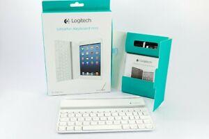 White Logitech Bluetooth Magnetic Ultrathin Keyboard Mini For Apple iPad Mini