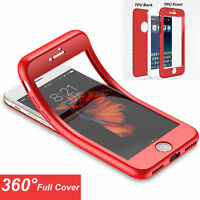 Hybrid 360° Full Protector Soft Case Front+Back Shockproof For iPhone 6 7 7Plus