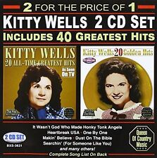 Kitty Wells - 40 Greatest Hits [New CD]