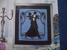 GLITZ & GLAMOUR OF THE 1920'S ART DECO-STYLE BALLROOM DANCERS CROSS STITCH CHART