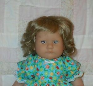 Playhouse BECKY Doll Wig SZ 12/13 BLONDE Short Wavy ~Full Cap~Modacrylic ~NO TAG