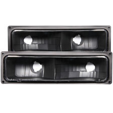 ANZO for 1988-1998 Chevrolet C1500 Euro Parking Lights Black - anz511053