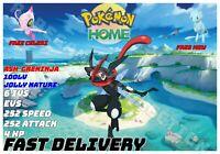 SHINY  Ash Greninja Pokemon Home sword shield FREE Celebi and Mew