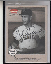 """2002 FLEER GREATS OF THE GAME ORLANDO CEPEDA """"CARDS/GIANTS"""" AUTOGRAPH AUTO"""