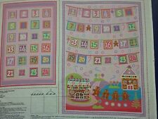 Candy Christmas Advent Calendar 100% Cotton Quilting Panel Fabric
